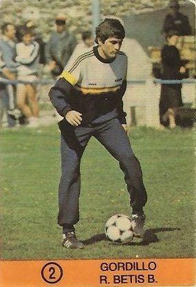 1983-84 Super Campeones. Gordillo (Real Betis). (Ediciones Gol)