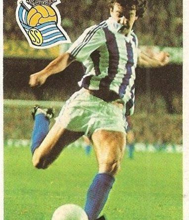 Diego Armando Maradona. Sus driblings. Sus goles. Liga 84-85. Satrustegui (Real Sociedad). Cromo Esport.