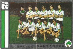 Fútbol 87. Alineación Racing de Santander (Racing de Santander). Ediciones Panini.