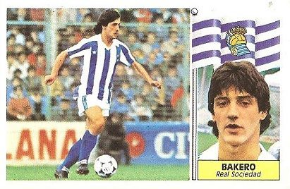 Liga 86-87. Bakero (Real Sociedad). Ediciones Este.
