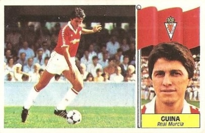 Liga 86-87. Guina (Real Murcia). Ediciones Este.