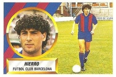 Liga 88-89. Fichaje Nº 1 Hierro (F.C. Barcelona). Ediciones Este.
