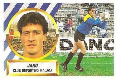Liga 88-89. Jaro (C.D. Málaga). Ediciones Este.