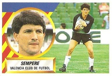 Liga 88-89. Sempere (Valencia C.F.). Ediciones Este.