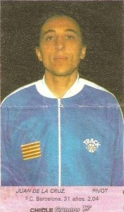 Liga Baloncesto 1985-1986. De la Cruz (F.C. Barcelona). Chicle Gumtar.