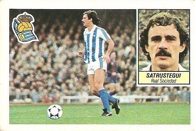 Liga 84-85. Satrustegui (Real Sociedad). Ediciones Este.