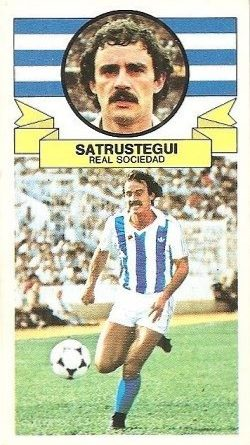 Liga 85-86. Satrustegui (Real Sociedad). Ediciones Este.