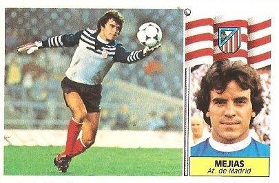 Liga 86-87. Mejías (Atlético de Madrid). Ediciones Este.
