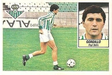 Liga 84-85. Gordillo (Real Betis). Ediciones Este.
