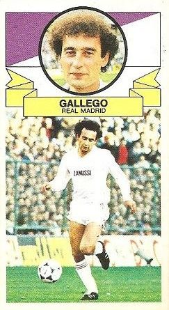 Liga 85-86. Gallego (Real Madrid). Ediciones Este.