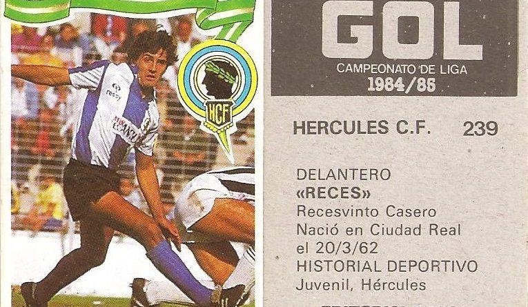 Gol. Campeonato de Liga 1984-85. Reces (Hércules C.F.). Editorial Maga.