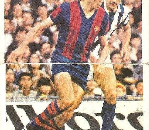 Liga 80-81. Carrasco (F.C. Barcelona) Futbolistas en Acción Nº 4 y 5. Ediciones Este.
