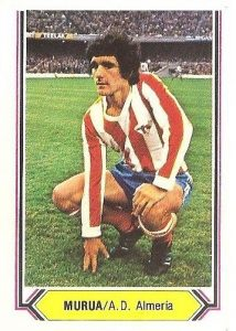Liga 80-81. Múrua (C.D. Almería). Ediciones Este.