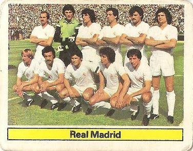 Liga 81-82. Alineación Real Madrid (Real Madrid). Ediciones Este.