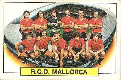Liga 83-84. Alineación R.C.D. Mallorca (R.C.D. Mallorca). Ediciones Este.