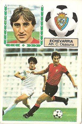 Liga 83-84. Echevarría (Club Atlético Osasuna). Ediciones Este.