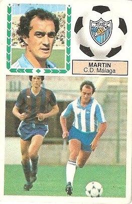 Liga 83-84. Martín (C.D. Málaga). Ediciones Este.
