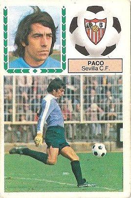 Liga 83-84. Paco (Sevilla C.F.). Ediciones Este.