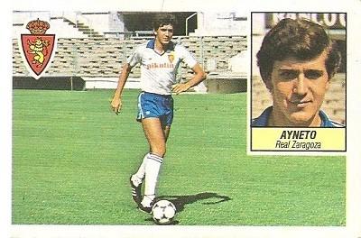 Liga 84-85. Ayneto (Real Zaragoza). Ediciones Este.