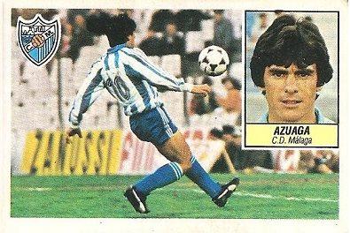 Liga 84-85. Azuaga (C.D. Málaga). Ediciones Este.