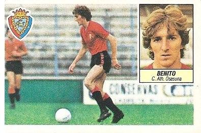 Liga 84-85. Fichaje Nº 4 Benito (Club Atlético Osasuna). Ediciones Este.
