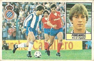 Liga 84-85. Forcadell (R.C.D. Español). Ediciones Este.
