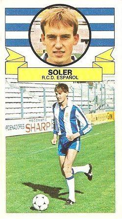 Liga 85-86. Soler (R.C.D. Español). Ediciones Este.