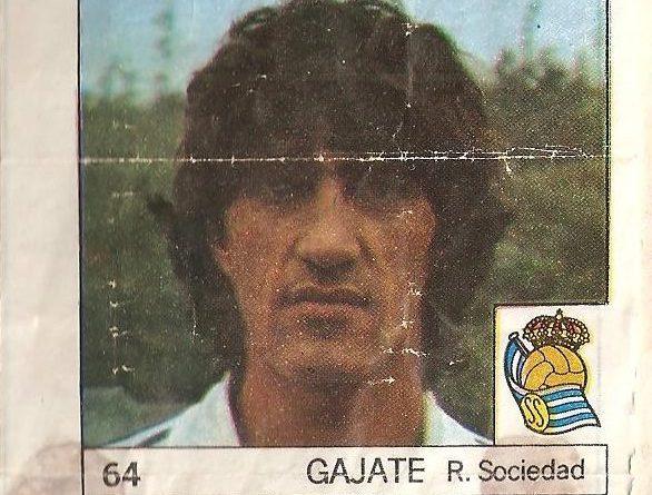 Super Cromos Los Mejores del Mundo (1981). Gajate (Real Sociedad). Chicle Fútbol Boomer.