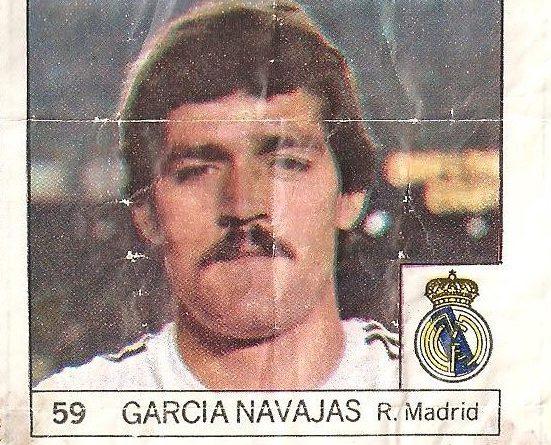 Super Cromos Los Mejores del Mundo (1981). García Navajas (Real Madrid). Chicle Fútbol Boomer.