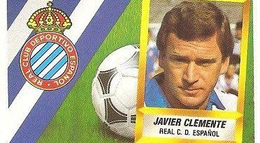 Liga 88-89. Javier Clemente (R.C.D. Español). Ediciones Este.