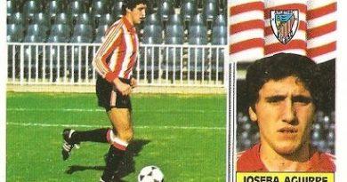 Liga 86-87. Fichaje Nº 5 Joseba Aguirre (Ath. Bilbao). Ediciones Este.
