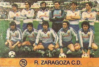 1983-84 Super Campeones. Alineación Real Zaragoza (Real Zaragoza). (Ediciones Gol).