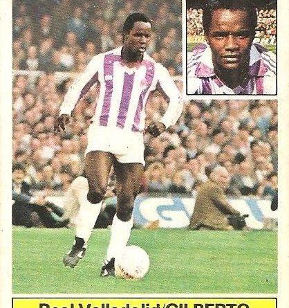 Liga 81-82. Gilberto (Real Valladolid). Ediciones Este.