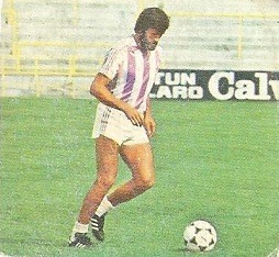 Liga 82-83. Fichaje Nº 18 García Navajas (Real Valladolid). Ediciones Este.