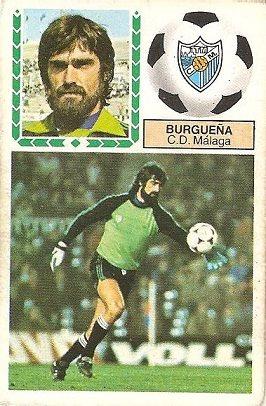 Liga 83-84. Burgueña (C.D. Málaga). Ediciones Este.