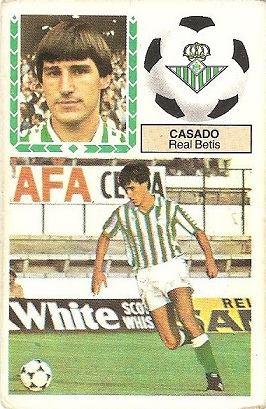 Liga 83-84. Casado (Real Betis). Ediciones Este.