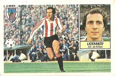 Liga 84-85. Liceranzu (Ath. Bilbao). Ediciones Este.