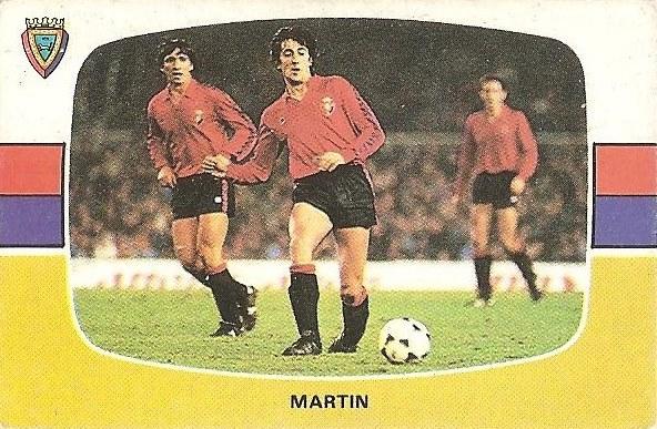 Liga 84-85. Martín (Club Atlético Osasuna). Cromos Cano.