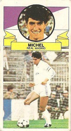 Liga 85-86. Míchel (Real Madrid). Ediciones Este.