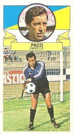 Liga 85-86. Paco (Cádiz C.F.). Ediciones Este.