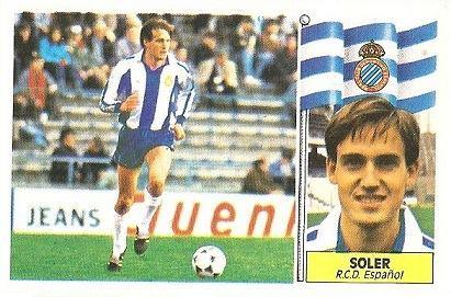 Liga 86-87. Soler (R.C.D. Español). Ediciones Este.