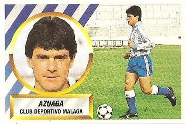 Liga 88-89. Azuaga (C.D. Málaga). Ediciones Este.