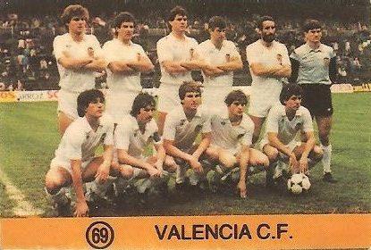 1983-84 Super Campeones. Alineación Valencia C.F. (Valencia C.F.). (Ediciones Gol)