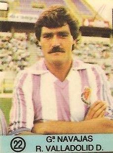 1983-84 Super Campeones. García Navajas (Real Valladolid). Ediciones Gol.