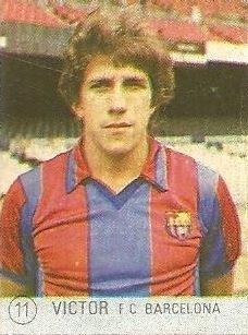 1983 Selección de Fútbol Liga Española. Víctor (F.C. Barcelona). Editorial Mateo Mirete.