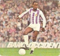 Liga 82-83. Gilberto (Real Valladolid). Ediciones Este.