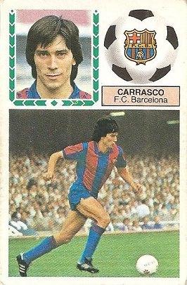 Liga 83-84. Carrasco (F.C. Barcelona). Ediciones Este.