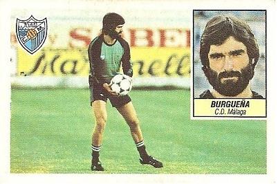 Liga 84-85. Burgueña (C.D. Málaga). Ediciones Este.