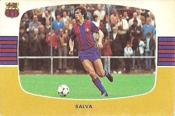 Liga 84-85. Fichaje Nº 21 Salva (F.C. Barcelona). Cromos Cano.