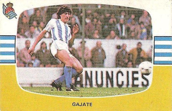 Liga 84-85. Gajate (Real Sociedad). Cromos Cano.